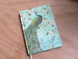 Peacock journal for writing in longhand
