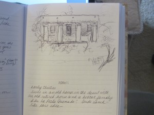 Journal page writing in longhand