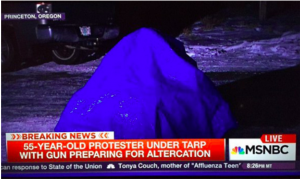 Tarp Man at Bundy Corral